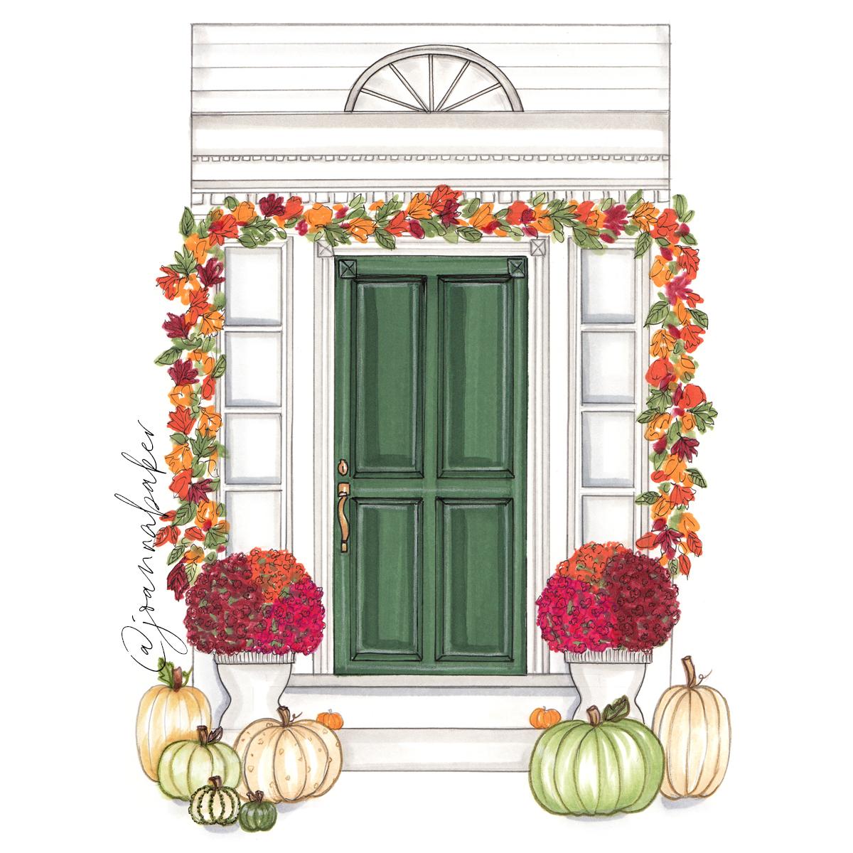 Fall Dream Home Illustration by Joanna Baker