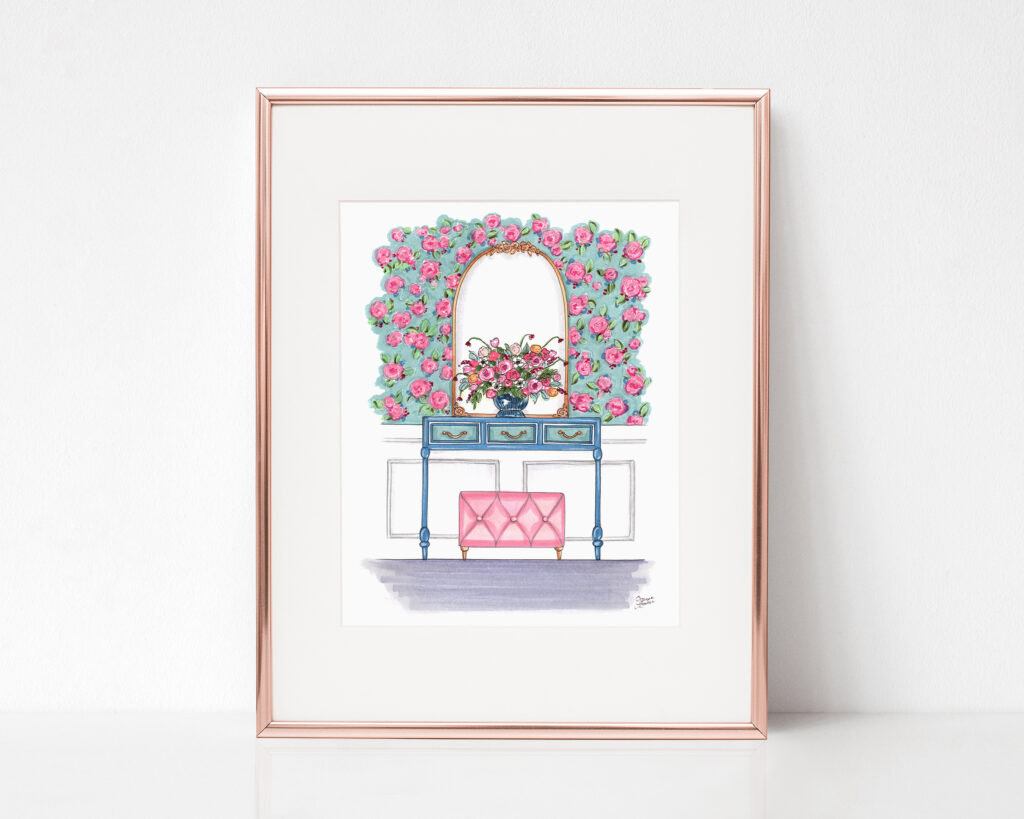 French Floral Dream Entryway Art Print by Joanna Baker